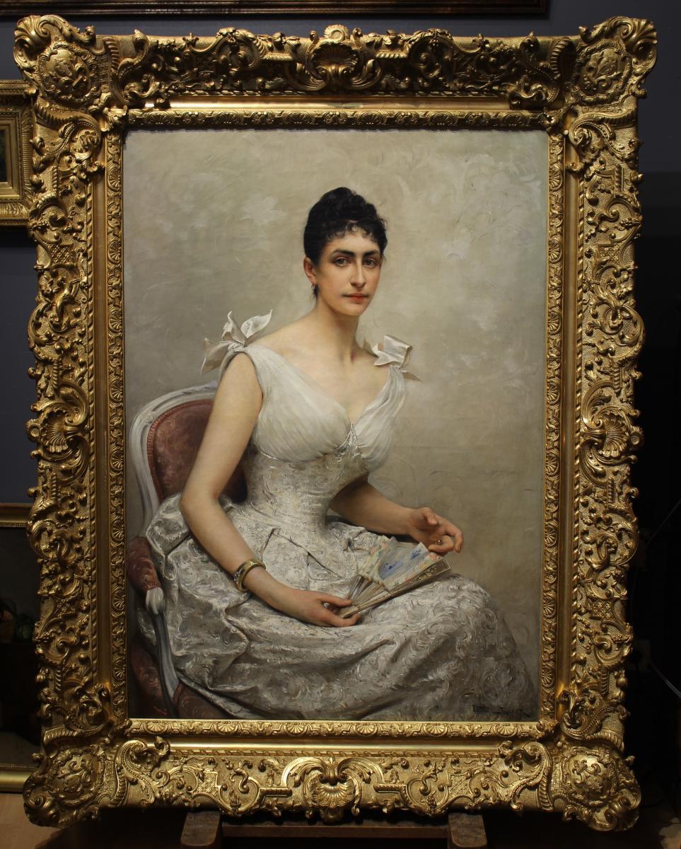 Portrait présumé de la princesse Hélène d'Orléans, L.Royer (1852-1926)