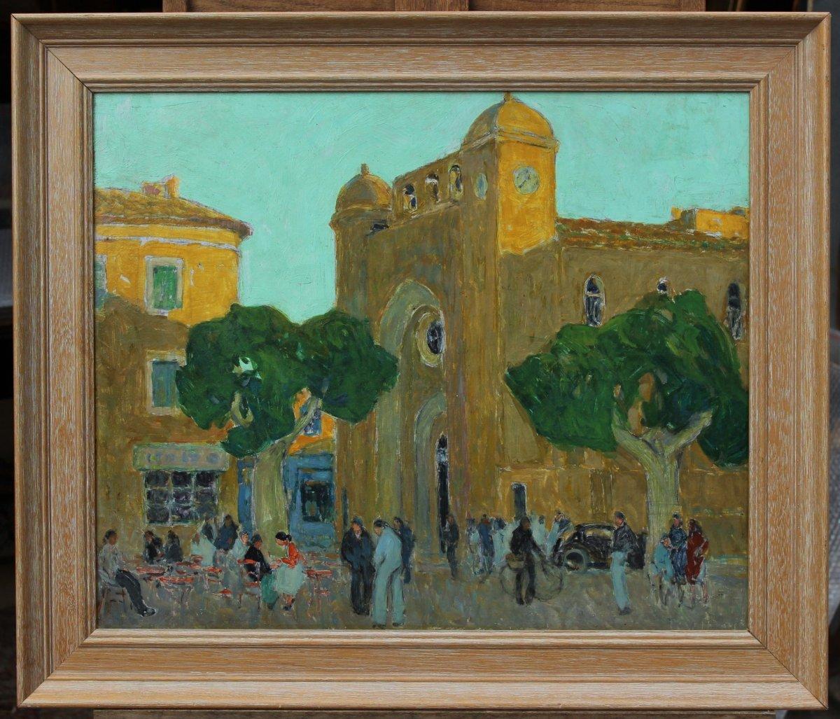 Fernand Lantoine (1876/78-c.1955), Church Of Aigues-mortes