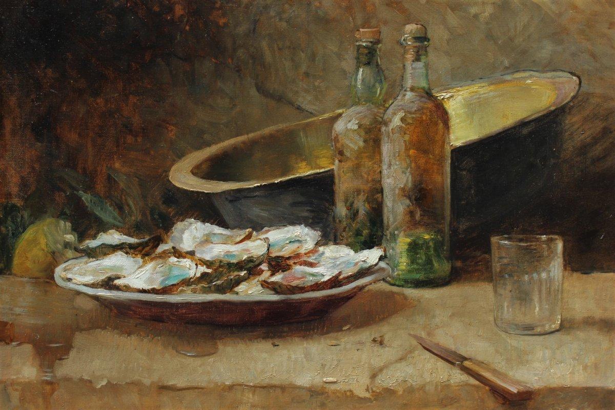 René Louis CHRÉTIEN (1867-1945), Nature mortes aux huitres