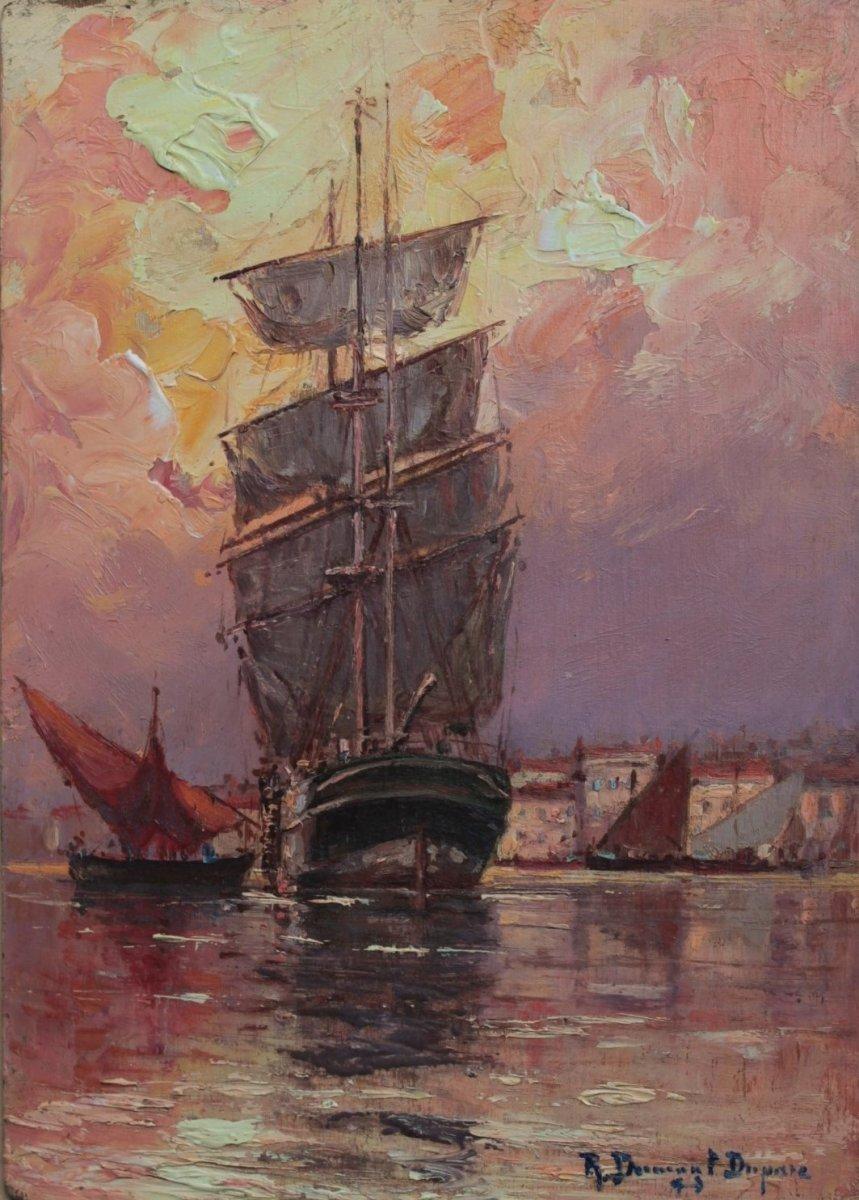 Robert DUMONT-DUPARC (1866-1930). Port de Cassis