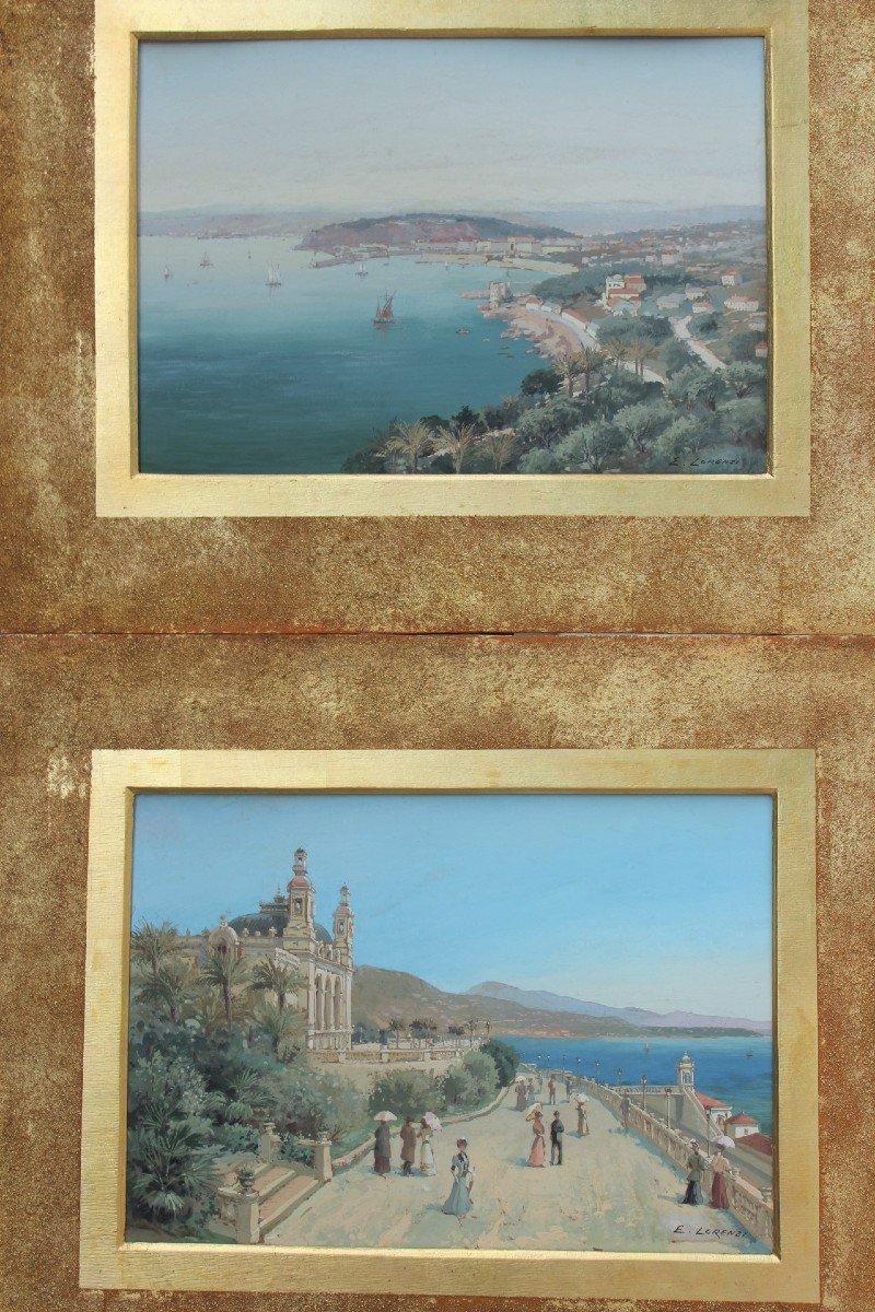 Vues de Monte-Carlo et de Nice vers 1900