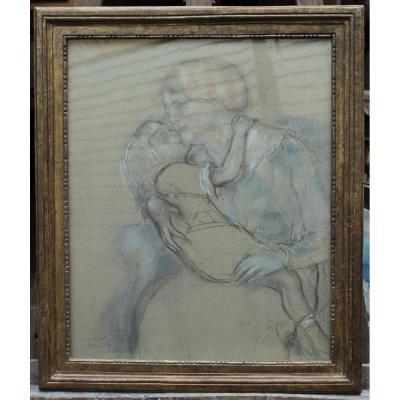 Louis Legrand (1863-1951), mère et sa fille.