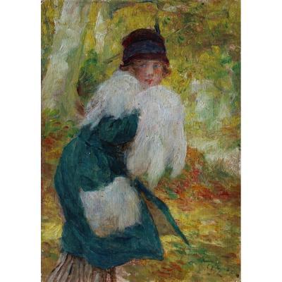 Jeune femme à la fourrure, Ed. Zier (1856-1924)