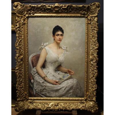 Portrait présumé de la princesse Hélène d'Orléans, L.Royer 1