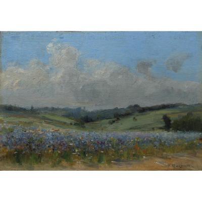 Le champ bleu, Fernand Quignon (1854-1941)