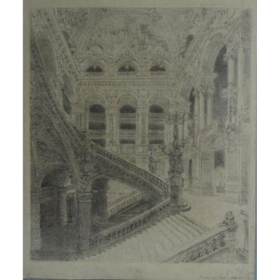 Escalier de l'Opéra Garnier à Paris, Victor Navlet (1819-1886)
