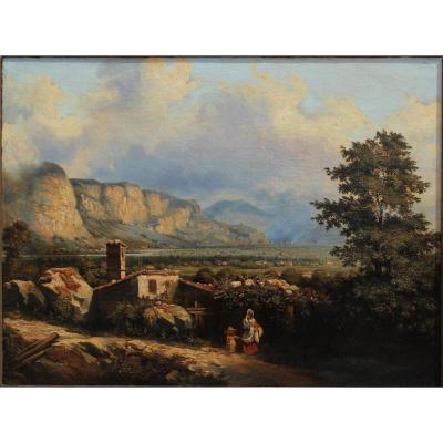 Vallée du Grésivaudan, Joseph Desombrages (1804-1873) Lyon