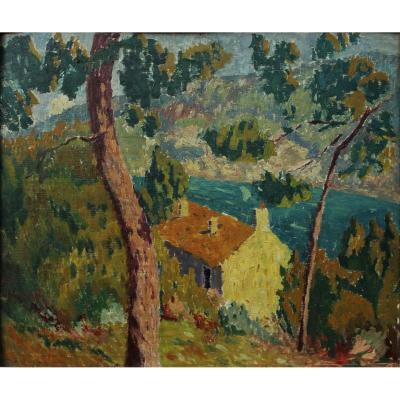 Paysage marin près de Cavalaire, Var, Joseph Lépine (1867-1943)