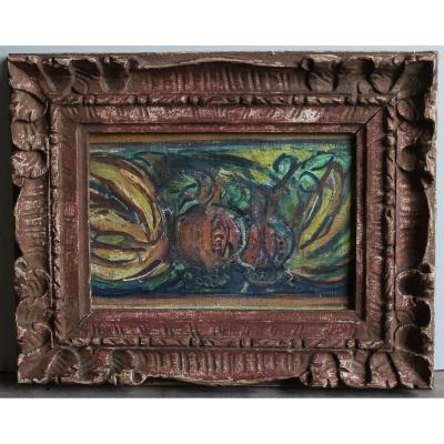 Fragment de nature morte, entourage Emile Othon Friesz (1879-1949)