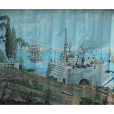 Grand papier peint XXè, 265x315 cm, J. Hubert