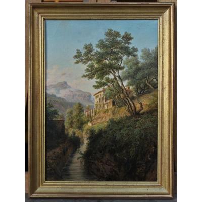 Édouard Hostein (1804-1889), Paysage Vers Toulon 1875