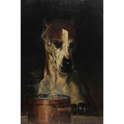 UN FIN GOURMET ! Louis Godefroy JADIN (1805-1882), chien 1855