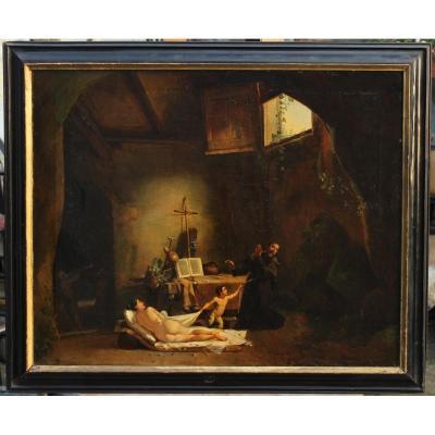 La Tentation De Saint-antoine, Ecole Française Vers 1850