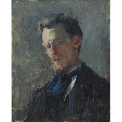 Raymond Thibesart (1874-1968), Autoportrait jeune
