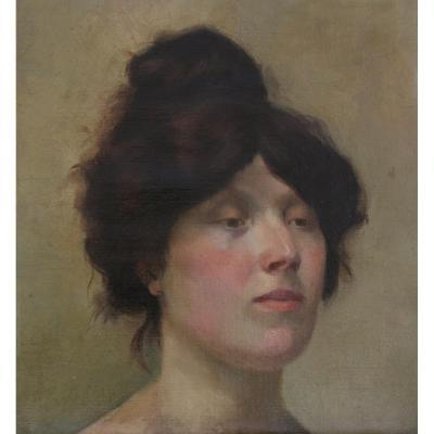Etude portrait de femme début XXè