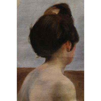 Study Woman From Back, Neck