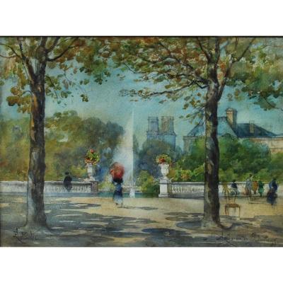 Paris, jardin du Luxembourg, F. Leteurtre XIXè-XXè