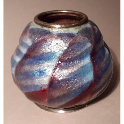 Camille Fauré (1874-1956), petit vase émaillé art déco