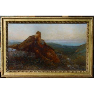 Jean-baptiste Duffaud (1853-1927), The Young Shepherds