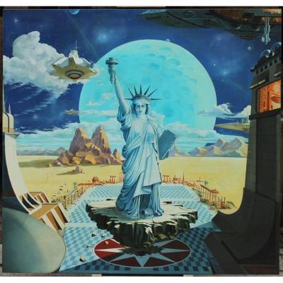 APOTHEOSE TECHNOLOGIE. Patrice Marchesseau 1980 - 132x171 cm