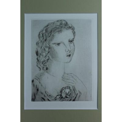Femme à la rose, Foujita (1886-1968)