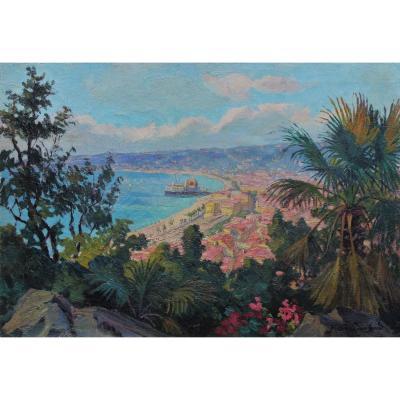 Vue de Nice - Juliette SAVALLE-LEMARCHAND (1920)