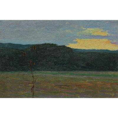 Etude de paysage début XXè - aurore ou crépuscule_1
