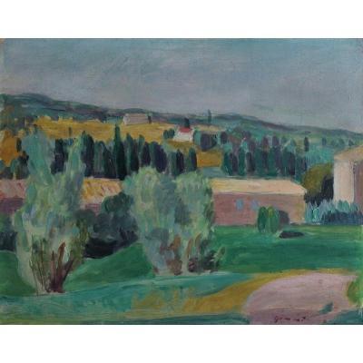 Wilhelm Gimmi (1886-1965) - Paysage Près Aix En Provence