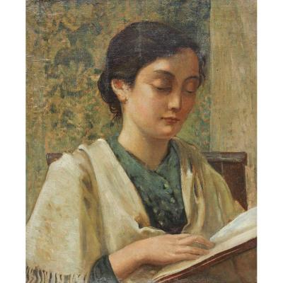 Femme à la lecture, vers 1930