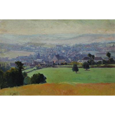 Edouard Pail (1851-1916) - Vue De Village