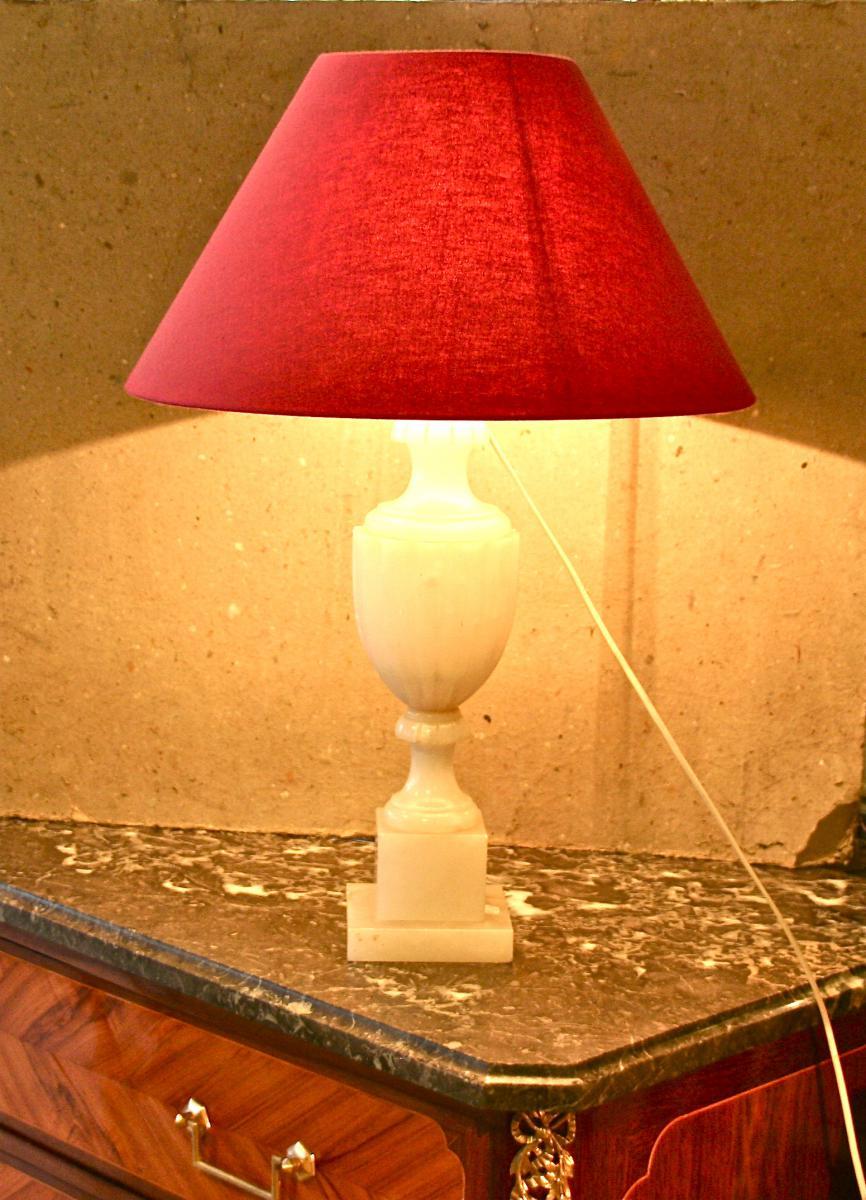 Lampe XIXème En Albâtre