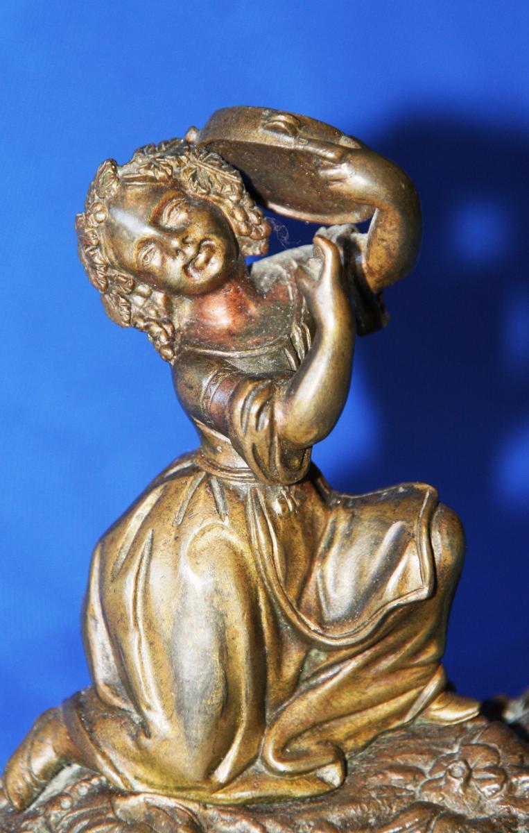 "Bronze ""joueuse De Tambourin""-photo-4"