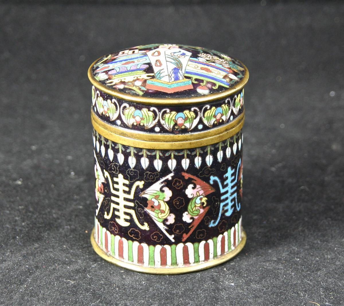 Boîte à Dross XIXème En Cloisonné