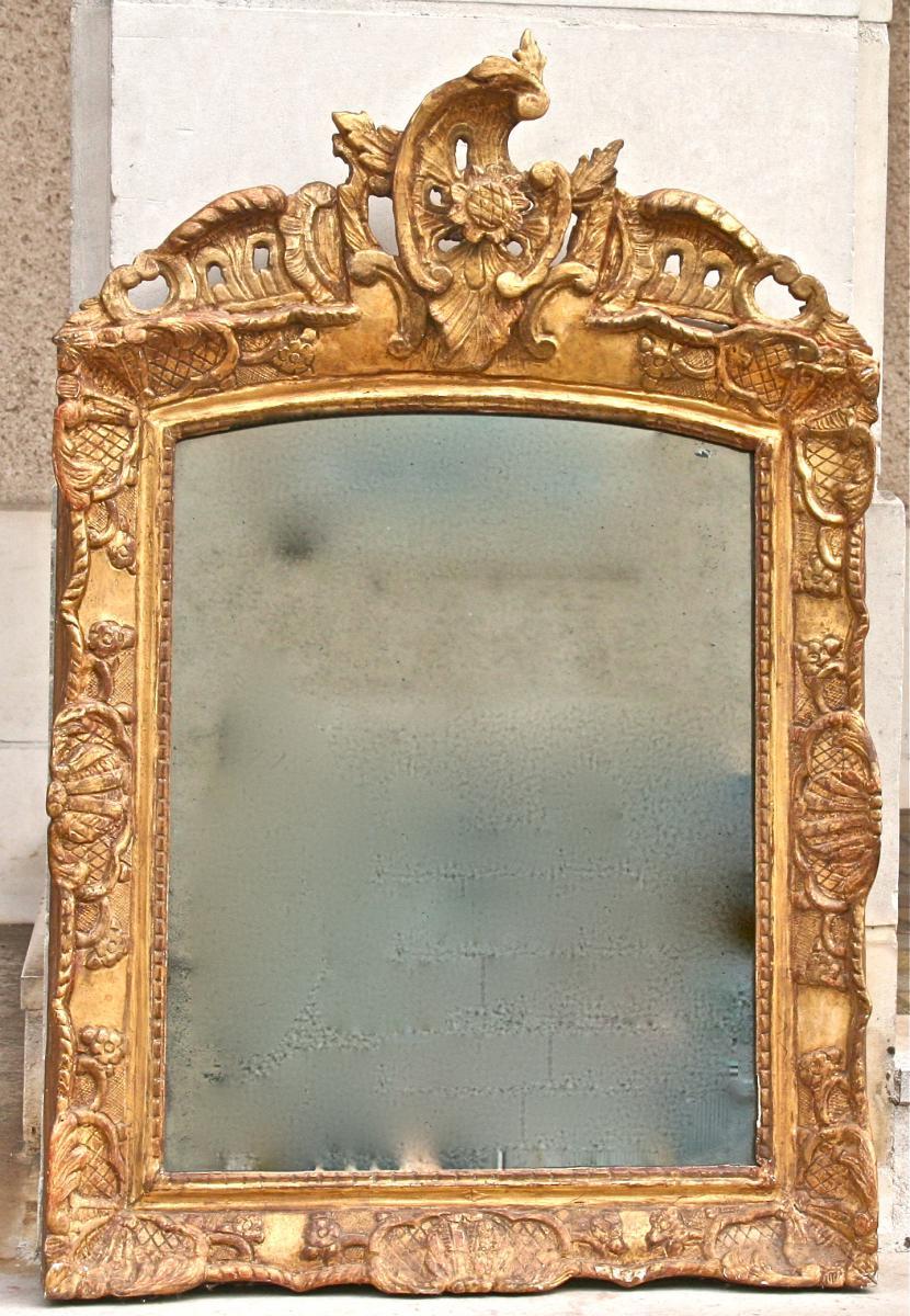Miroir En Bois Doré XVIIIème