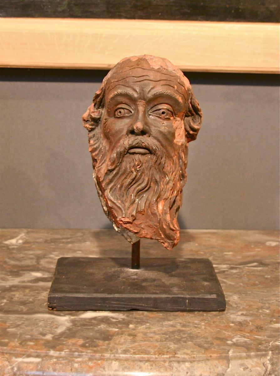 XVII Human Head Terracotta