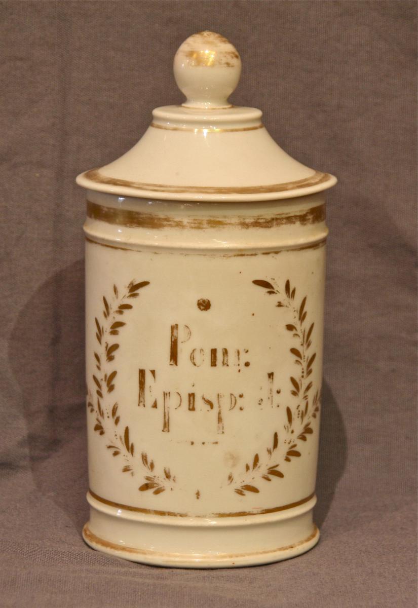 pot à pharmacie en porcelaine XIXème