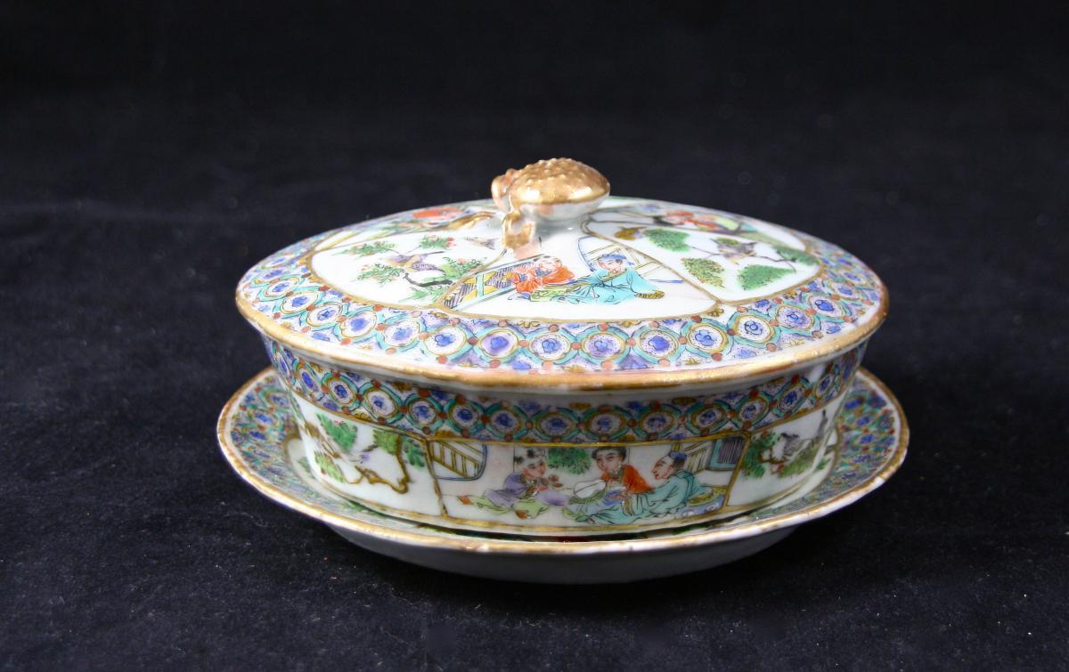 Compotier Beurrier KAGHI XVIIIème En Porcelaine De Chine