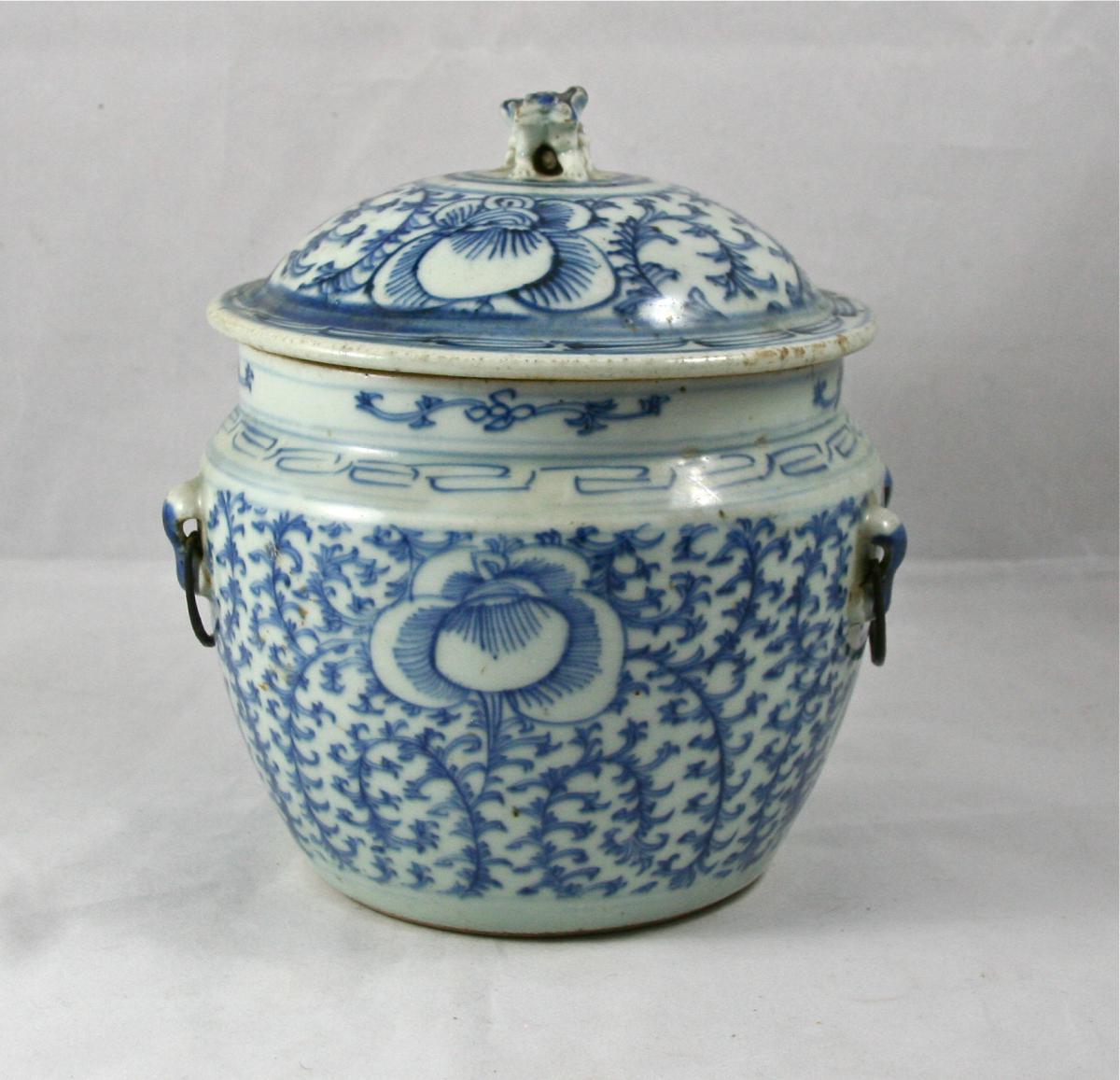 Pot Couvert XIXème En Porcelaine De Chine