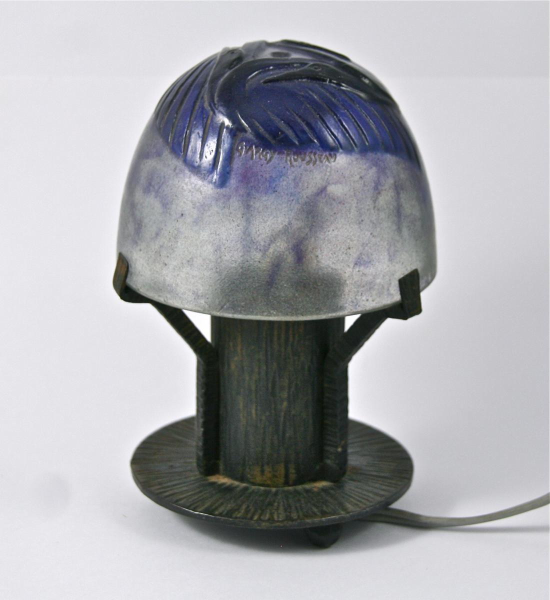 Lampe En Pate De Verre G. Argy Rousseau Début XXème