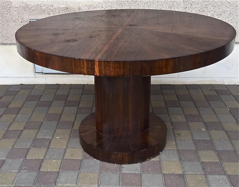 Table Guéridon Art Deco In Rosewood