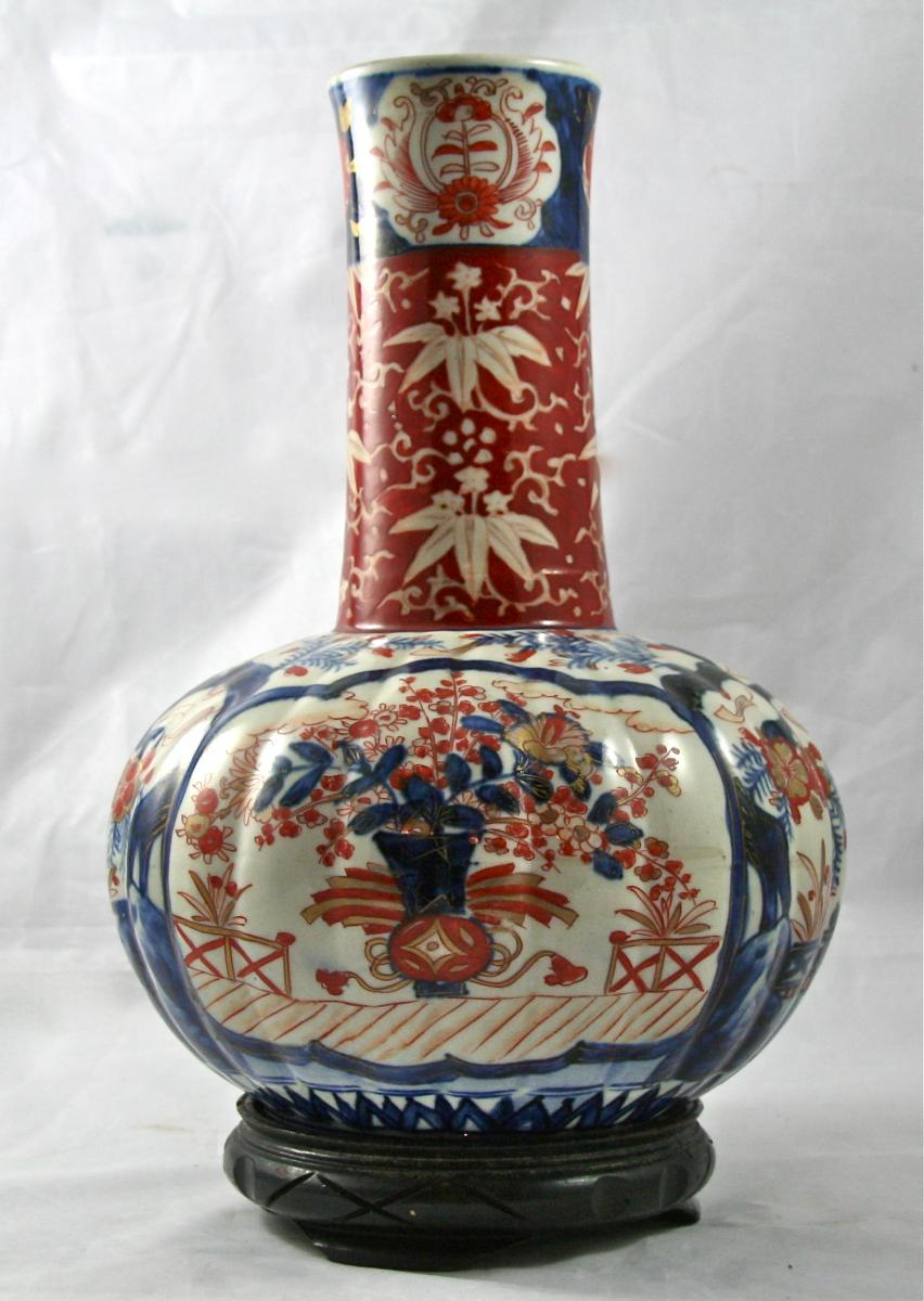 Large Nineteenth Imari Porcelain Vase