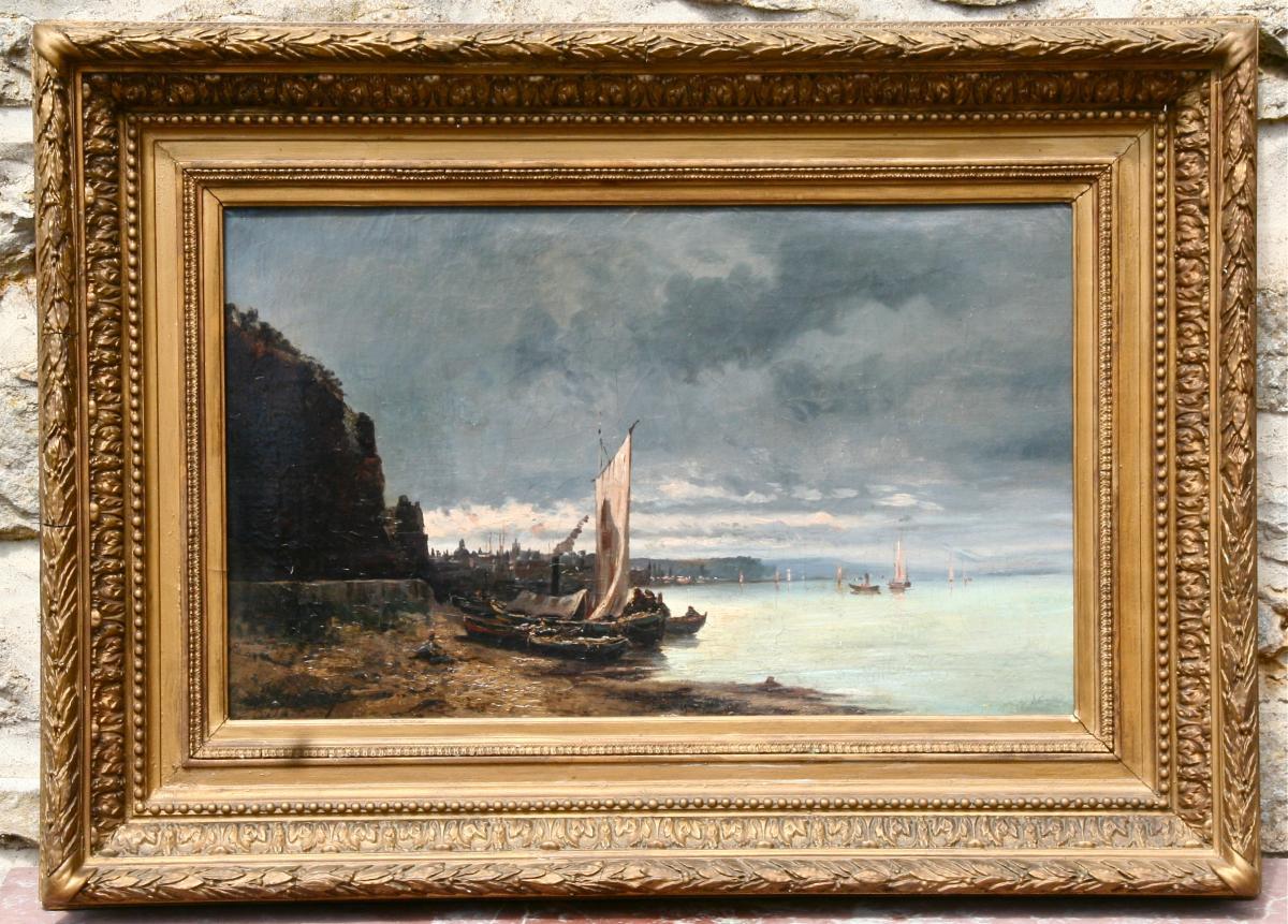 """Peinture Marine XIXème """"échouages Des Navires""""  De Guery"""