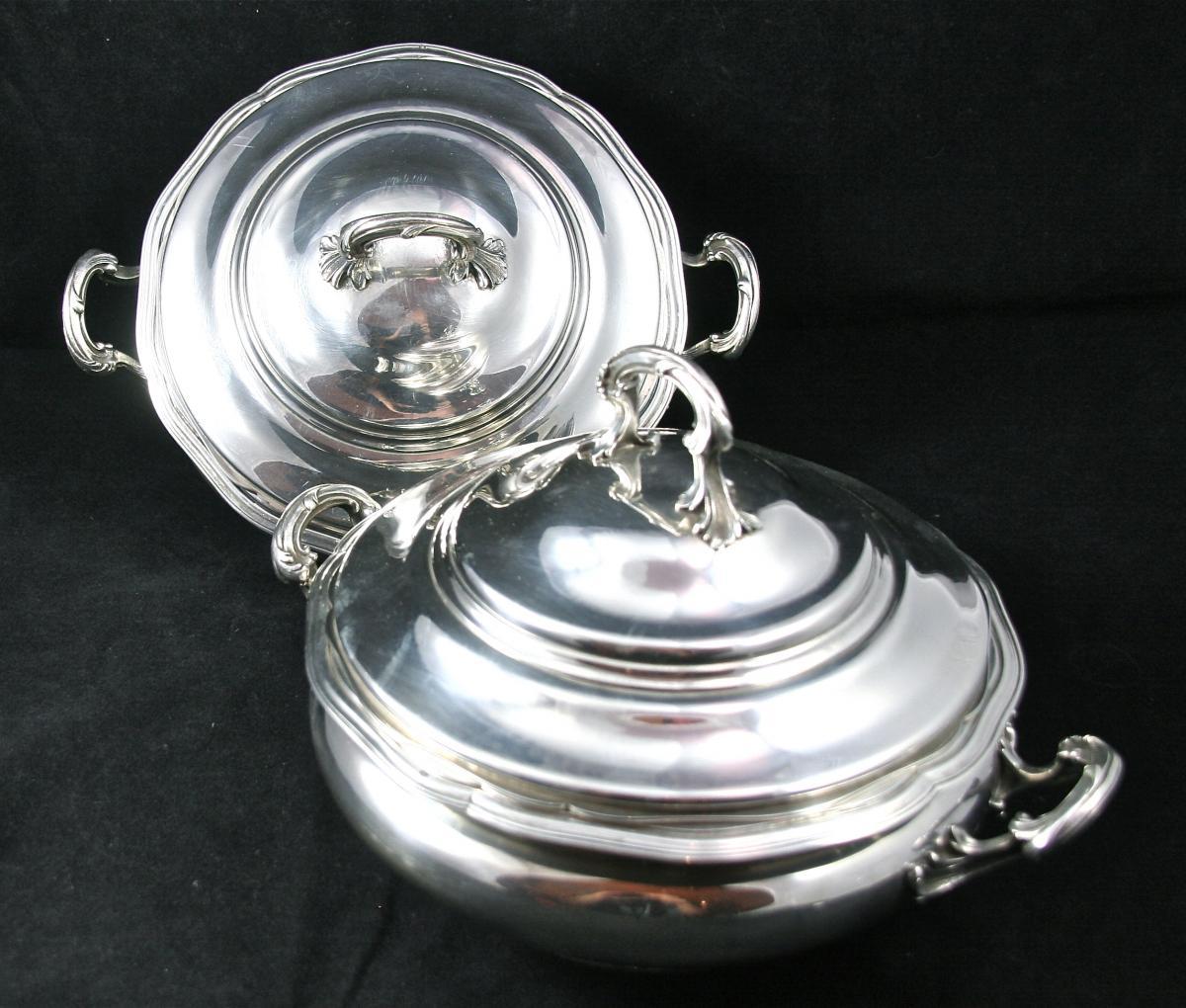 Pair Of Vegetables Nineteenth In Sterling Silver