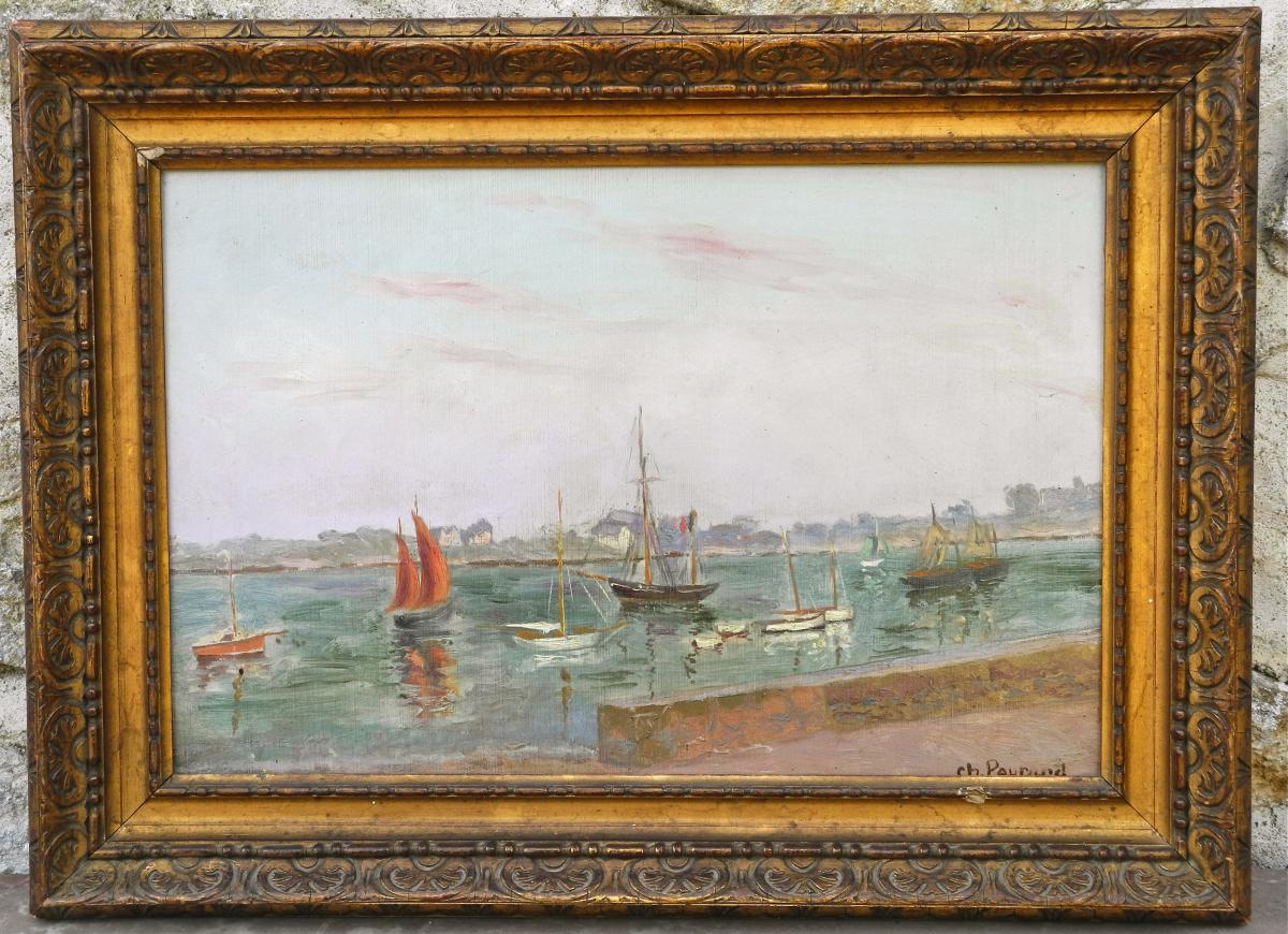 Marine Painting Nineteenth Charles Peyrard