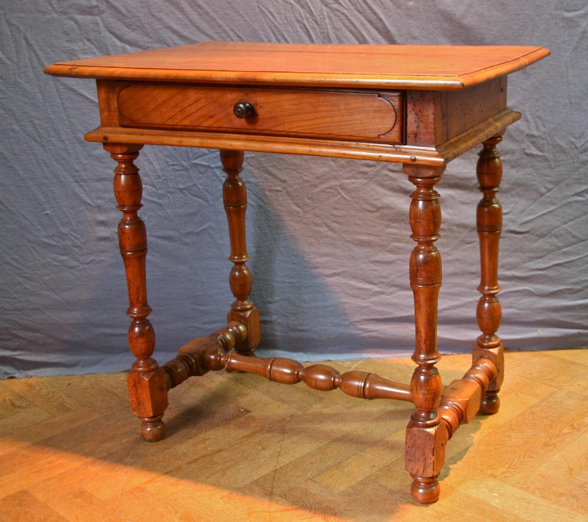 Table Bureau Louis XIV En Merisier