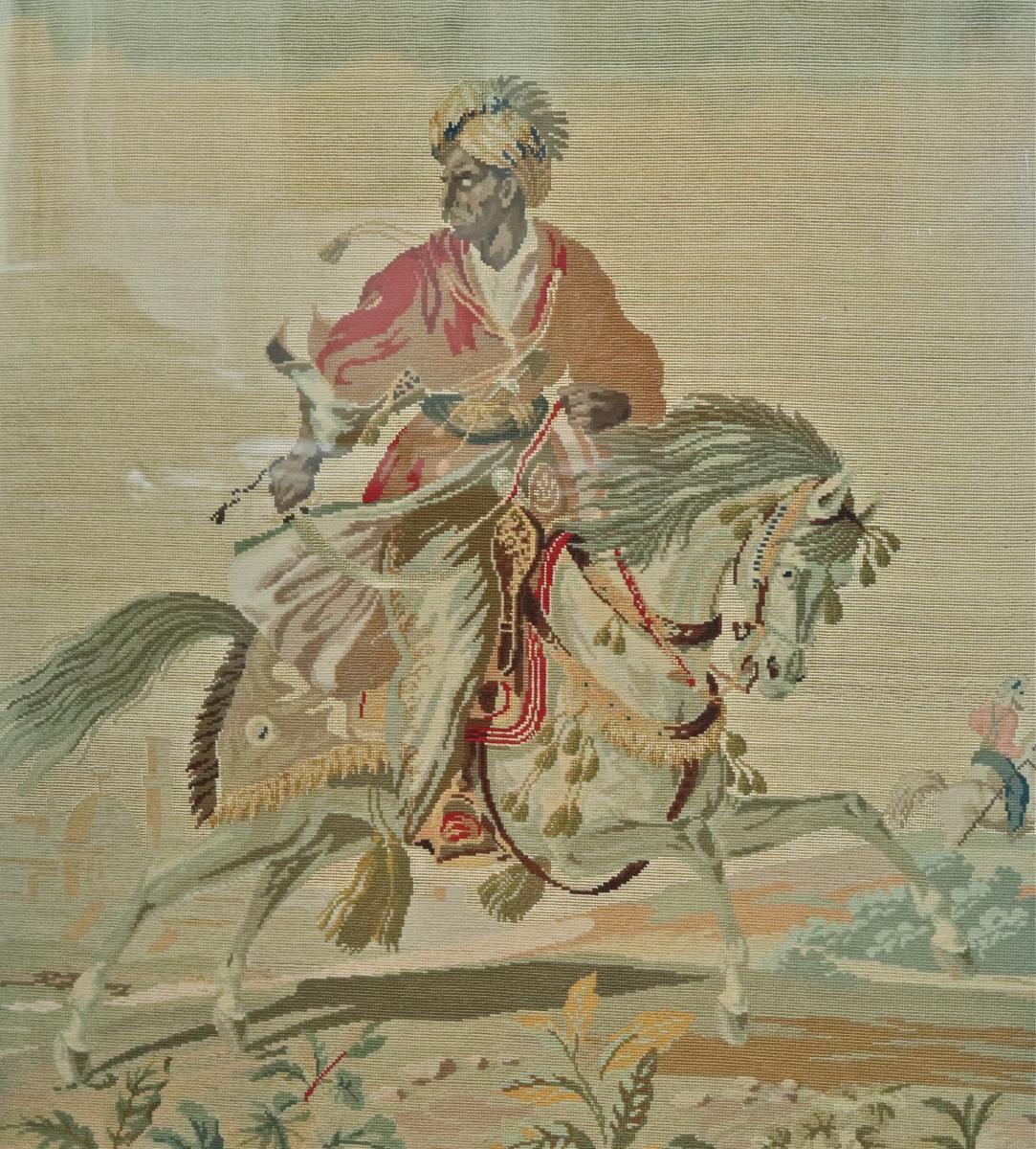 Ecran Pare- Feu Napoléon III En Bois Doré Et Tapisserie