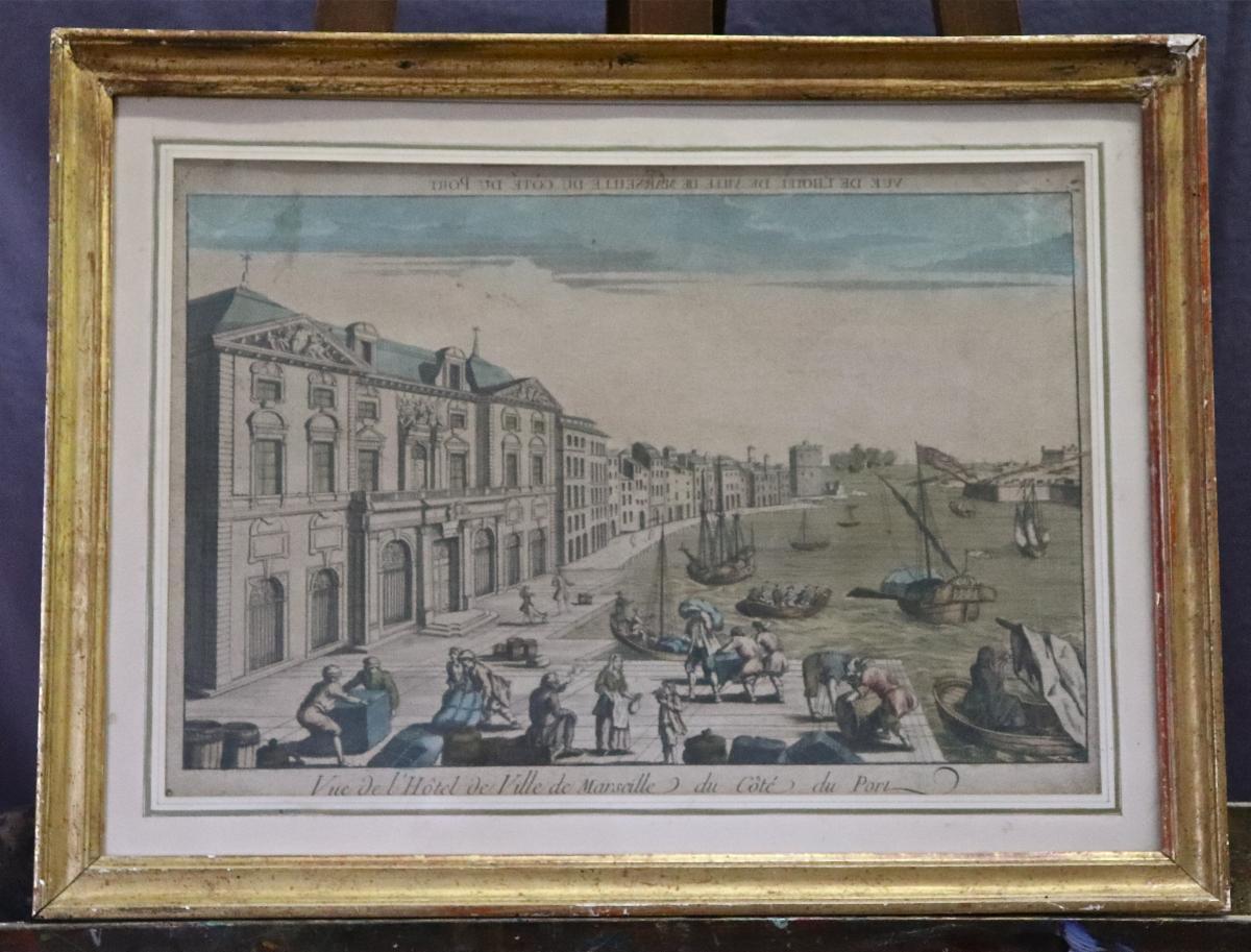 Vue d'Optique XVIIIème Du Port De Maseille