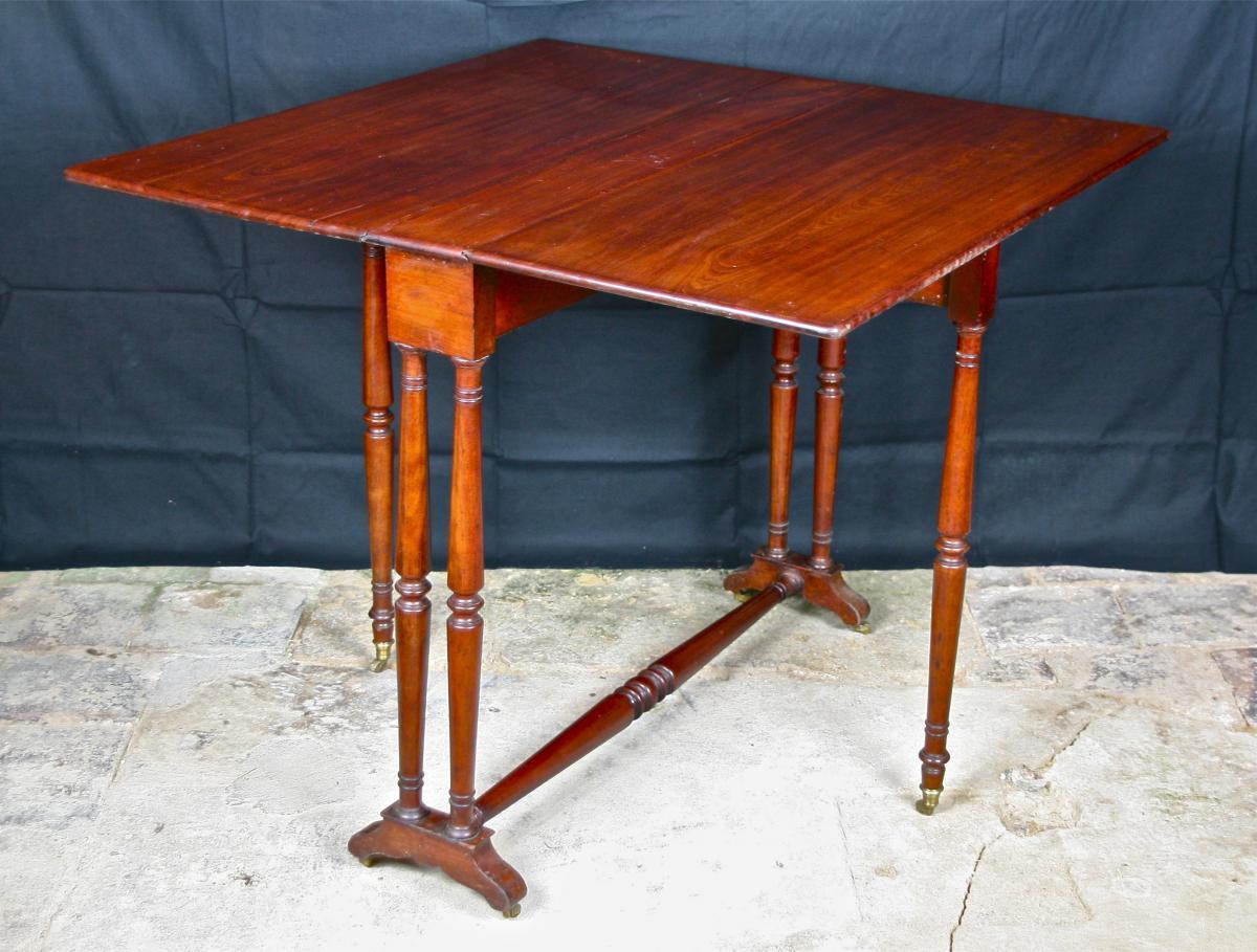 Table à Volets XIXème En Acajou