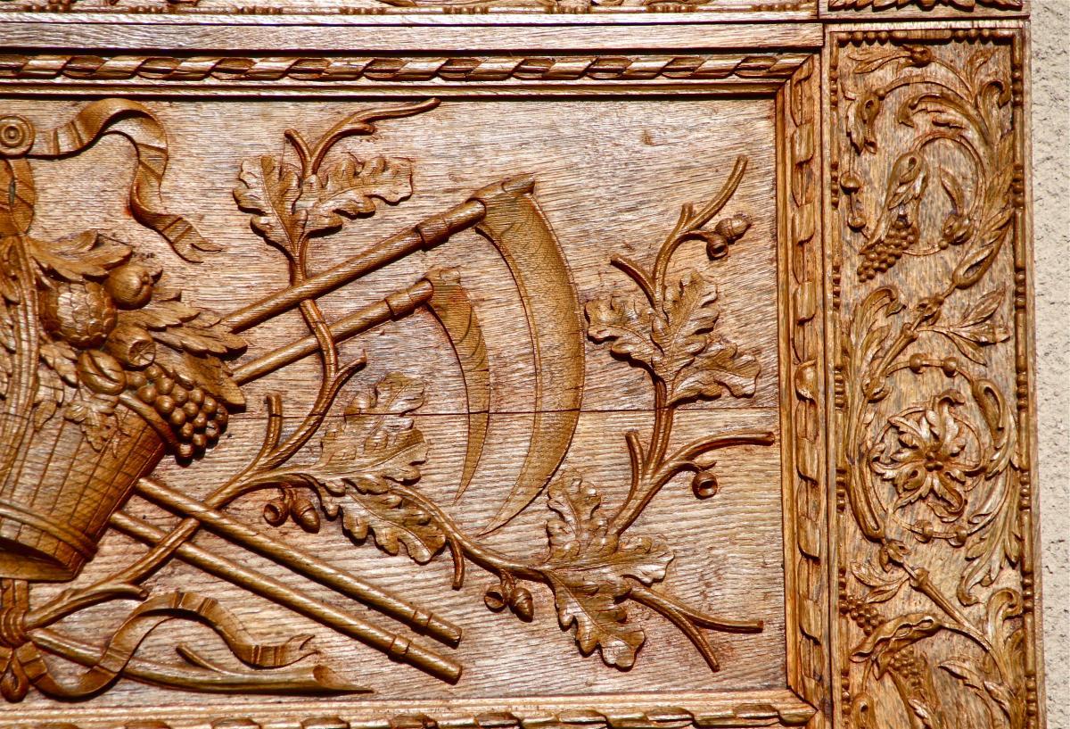 Trumeau XVIIIème En Chêne Sculpté