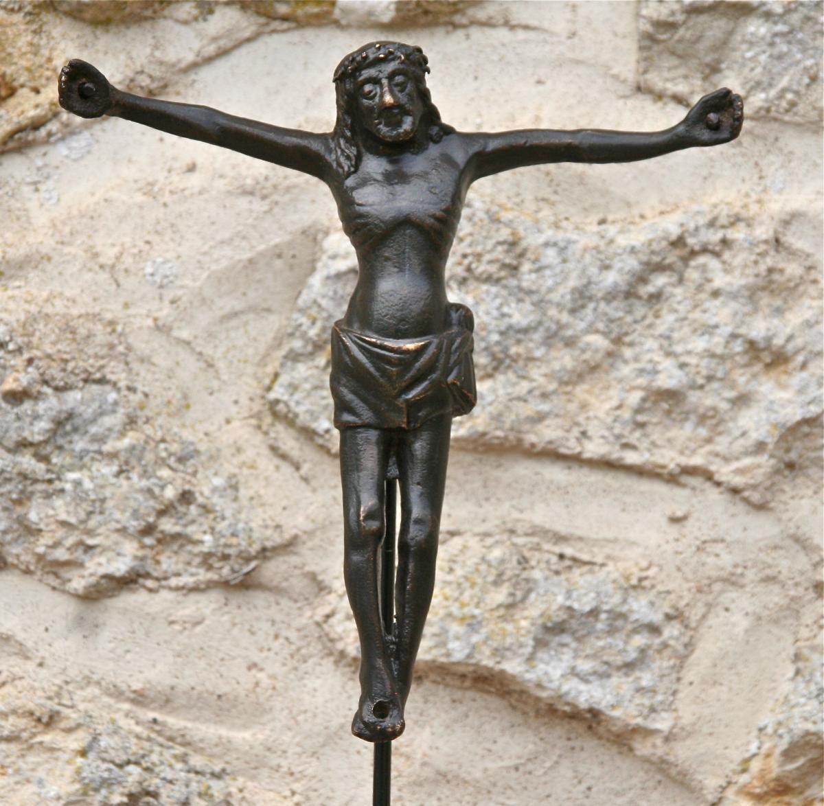 Christ En Bronze d'Époque XVème
